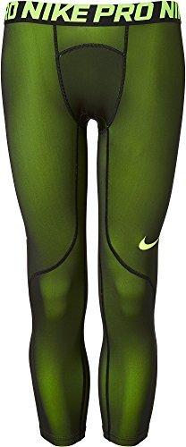 Tight Nike Winter Pro - Nike Men's Three Quarter Colorburst Tights (Volt/Black, XL)