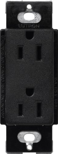 Satin Colors 20-Amp Receptacle, Midnight - Lutron SCR-20-MN
