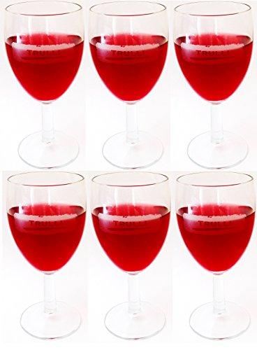 Trulli Lot de 12 Verres à vin blanc et verres à vin rouge à pied à vin en Verre (Blanc Vin)