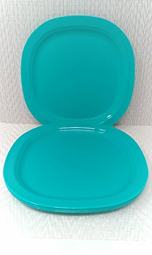 Tupperware - Platos para cena de microondas (9,25 cm), color azul ...