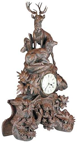 EuroLuxHome Clock Mountain Rustic Mother Fox and Her Young Kits Pair of Majestic ()