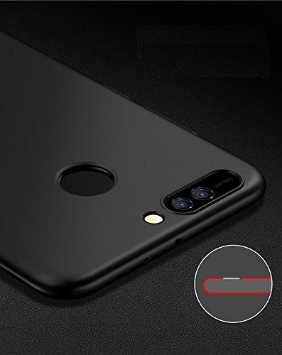 Huawei Honor V9 Funda ,Honor V9 Case, Honor V9 Cover,color sólido, estilo sencillo,Alta Calidad Ultra Slim Anti-Rasguño y Resistente Huellas Dactilares Totalmente Protectora Caso de Plástico Duro Cove Black