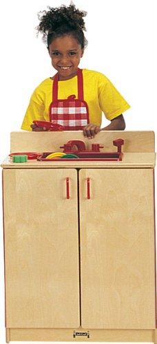 Jonti-Craft 0208SA School Age Natural Birch Play Kitchen Sink - Natural Birch Kitchen Set
