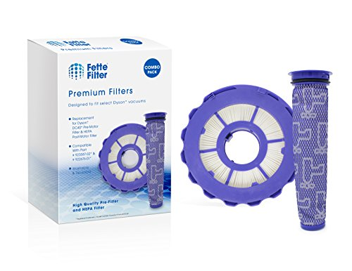 Fette Filter - HEPA Post-Motor Filter & Pre-Motor Filter Compatible with Dyson DC40. for Animal, Multi Floor, Origin and Total Clean Vacuums. Compare to Part # 923587-02 & 922676-01 - Combo Pack (Difference Between Dyson Animal And Multi Floor)