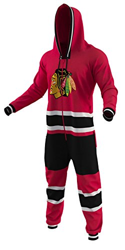 fan products of On Sale Chicago Blackhawks Ice Hockey Sockey Team Color Logo NHL Licensed Onesies Fan Apparel (X Large)