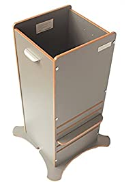 Little Helper FunPod Kitchen Step Stool Tower With Adjustable Height, Grey