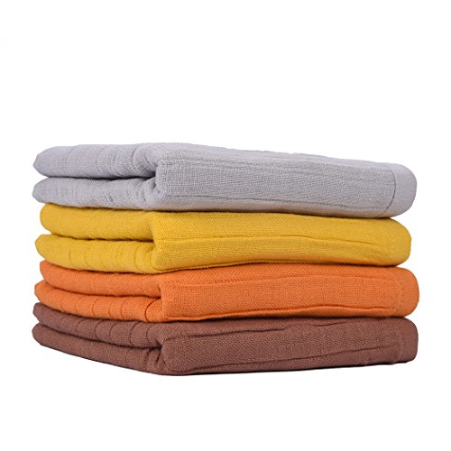 Bathroom Hand Towels, Cotton Towels Sets, 4 Packs- Super Soft Absorbent, Quick Dry Luxury Towels Set for Kitchen, Hotel, Bath, Spa, Gym-12x30inch 4 Colors/ Set by Fansolife