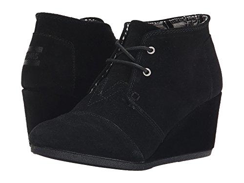 TOMS Desert Wedge Boot - Women's (8.5 B(M) US, Black Suede)