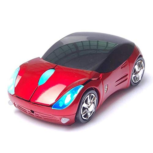 Realistic Style Sports Car With Light Up Headlights 2.4 Ghz Optical Wireless Mouse Sports Car I Epic Gifts