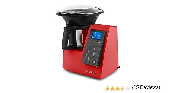 Klarstein Kitchen Hero • Robot de cocina multifunción • batidora • hasta a 10 000 rpm • Potencia 600 W, 9 velocidades. roja: Amazon.es: Hogar