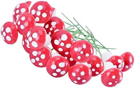 1st market ?ミニ植木鉢用の10個のミニフェイクキノコ妖精DIYの装飾ガーデンドールハウスピンククリエイティブで便利