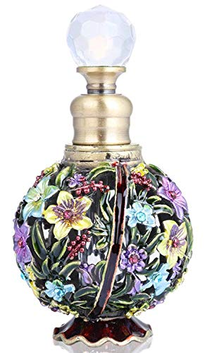 YUFENG Restoring Ancient Ways Hollow-Out Rattan Flower Perfume Bottles Empty Refillable (Flower 1)