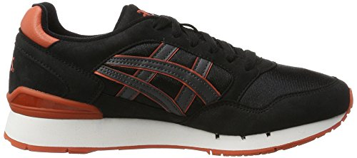 Asics atlanis Noir Sneakers Adulte gris Gel Mixte Basses rSzwrqv