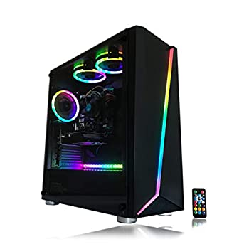 Image of Gaming PC Desktop Computer Intel i5 3.10GHz,8GB Ram,1TB Hard Drive,Windows 10 pro,WiFi Ready,Video Card Nvidia GTX 650 1GB, 3 RGB Fans with Remote Towers