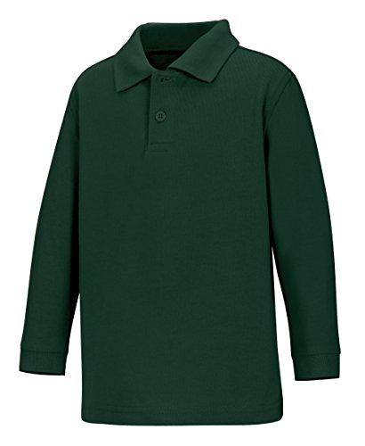 CLASSROOM Little Boys Uniform Long Sleeve Pique Polo Shirt