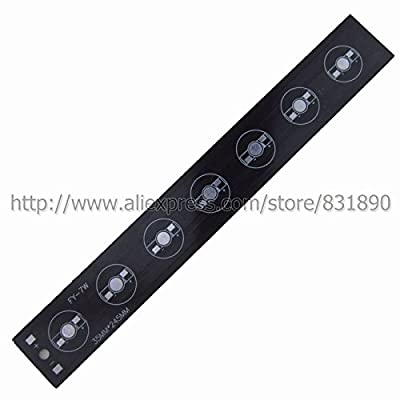 Black, 7W 245X30MM : 10 pcs/lot LED PCB Aluminum baord plate 6W 15743mm pcb for 1W 3W 5W Tube light floodlight Ceiling light replace led strip pcb