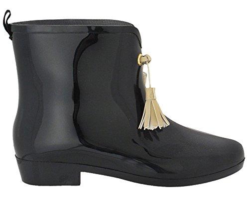 Capelli New York Opaco Con Nappe Da Donna Mademoiselle Bootie Jelly Rain Boot Nero