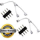 LEDJump 2X led strip splitter 4 Pin Splitter for One to Two LED RGB Color Changing Strips (2 pcs included)