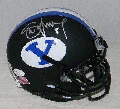 Steve Young Autographed Signed Byu Cougars Matte Black Mini Helmet - JSA  Certified - Autographed College 28932d2d2