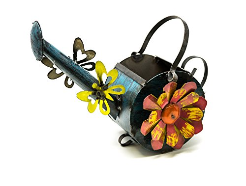 Rustic Arrow Watering Can Cylinder Garden Art, Mulitcolored (Arrow Cylinder)
