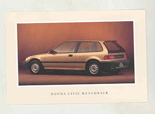 1990 Honda Civic Hatchback Factory Postcard