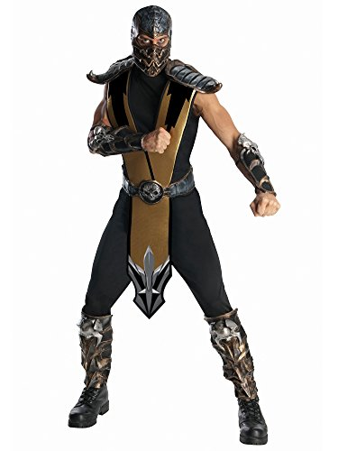 Rubie's Mortal Kombat Scorpion Adult Costume, Gold, One Size for $<!--$29.99-->