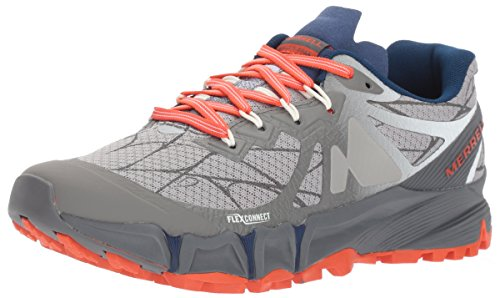 マラウイレトルト特殊Womens Merrell Trail Running Sneakers Agility Peak Flex Shoes [並行輸入品]