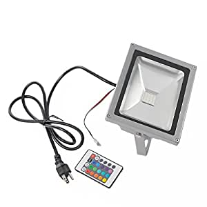 Susay® 20W RGB Color Changing LED Flood Light 85~264V Outdoor 1600LM With Remote Control