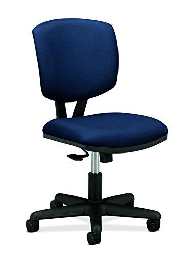 HON The Company GA90.T Volt Task Armless Office Chair for Computer Desk, Navy/Blue (H5703), Synchro-Tilt