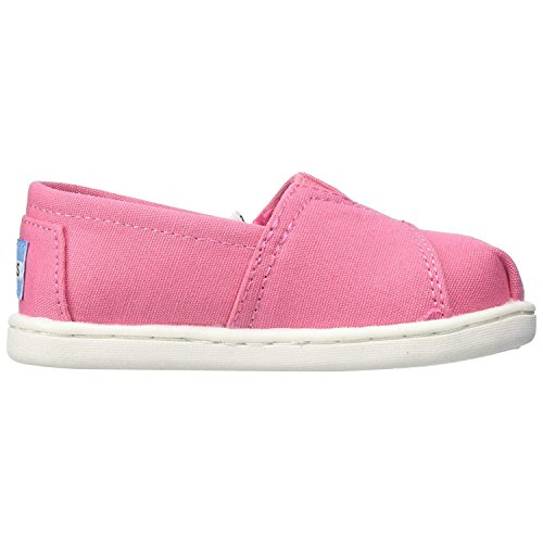 TOMS Girls 10009918 Alpargata Slip on/Flat, Pink, 7 M US -