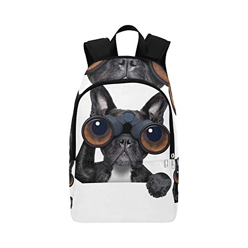 (Dog with Magnifying Glass Casual Daypack Travel Bag College School Backpack for Mens and Women)
