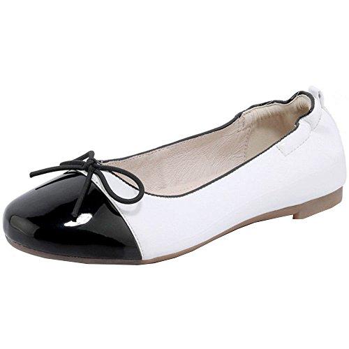 COOLCEPT Shoes Fashion Flats White Pumps Women xIHwzxqAr