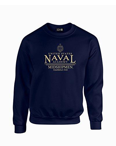 NCAA Navy Midshipmen Classic Seal Crew Neck Sweatshirt, Small, Navy