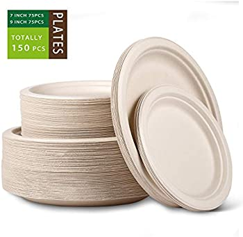 150-Count Jeopace Compostable Disposable Plates