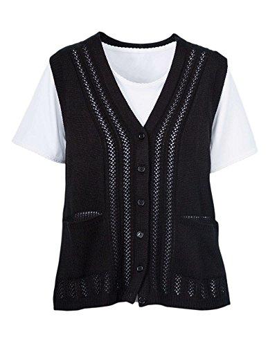 National Classic Sweater Vest, Black, Large