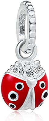 Sterling Silver Pendant Charm Lady-Bug