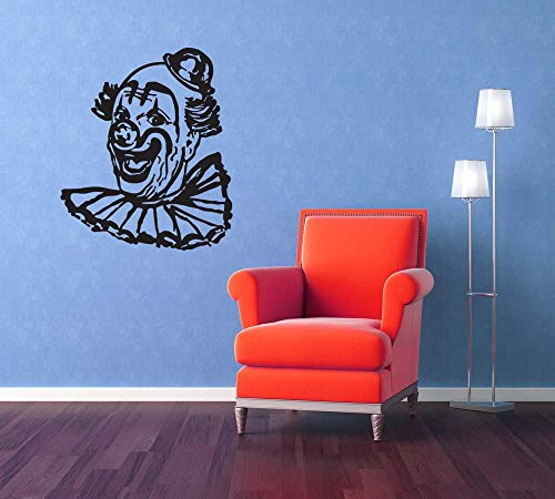 Clown Art Circus Party Carnival Birthday Halloween Decorations Fair Retro Wall Decal Sticker Vinyl Home Office Nursery Wall Decal Made in USA -
