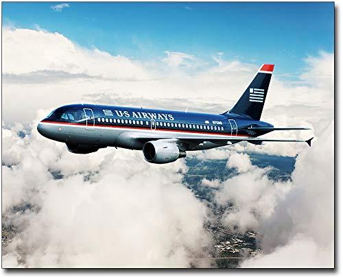 US Airways Airbus A320 in Flight 11x14 Silver Halide Photo Print ()