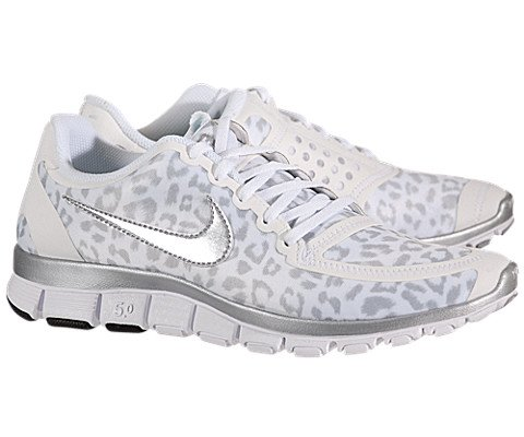 premium selection affdd f1a72 NIKE Free 5.0 Womens Running Shoe Leopard Print White Metallic Silver Wolf  Grey - Buy Online in Oman.  Apparel Products in Oman - See Prices, ...