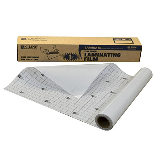 C-Line Heavyweight Cleer-Adheer Laminating Film Sheets, Clear, 24 x 600 Inches, Roll (65050) from C-Line