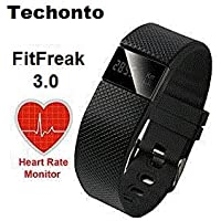Techonto FitFreak 3 Fitness Band with Heart Rate Monitor, Pedometer, Calorie, LED Display, Watch