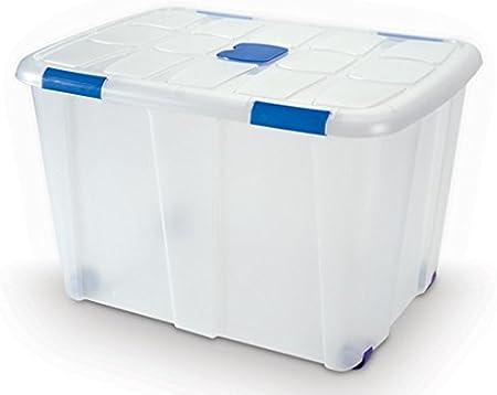 Plastic Forte - Caja de ordenación n 16 130 litros: Amazon.es: Hogar