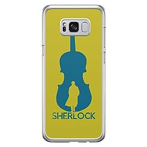 Samsung S8 Transparent Edge Case Sherlock Music -Multicolor