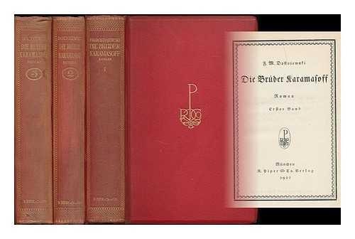 Die Bruder Karamasoff : Roman in Zwei Bandeu : Gebunden in drei Bande (Bandeu)