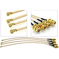 Pack of 4 RF U.FL(IPEX/IPX) Mini PCI to RP-SMA Female Pigtail Antenna Wi-Fi Coaxial RG-178 Low Loss Cable (12 inch (30 cm))