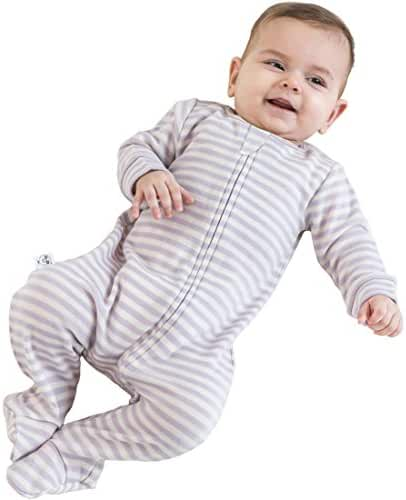 Woolino Footie Sleeper, Merino Wool Pajama Sleeper, 0-36 Months