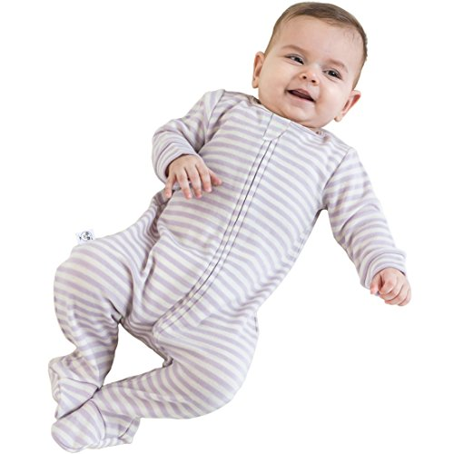 Woolino Footie Sleeper, 100% Superfine Merino Wool Sleeper, 0-3 Months, Lilac