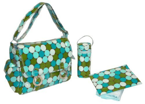 Kalencom Fashion Diaper Bag, Changing Bag, Nappy Bag, Mommy Bag, Coated Double Buckle Bag (Fun Dots Seaside) by (Kalencom Coated Double Buckle Bag)
