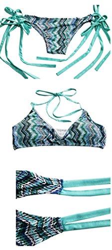 Sommer Strand Bbikinitop Zweiteiler Triangel Bikini Damen Reizvolle Träger Tankinis Print Bikinioberteil Cross strap Swimwear Beachwear