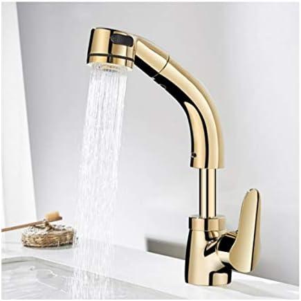 バスルームのシンクの蛇口、360度を昇降させるための温水と冷水蛇口用蛇口,金